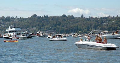 Lake Washington Seafair Log Boom Party